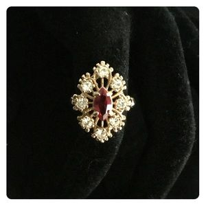 Ruby Gold Plated Cocktail Ring 💍🌹